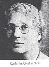 Black and white image of Catherine Condon Hale