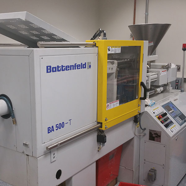 Image of one of our micro-molding machines