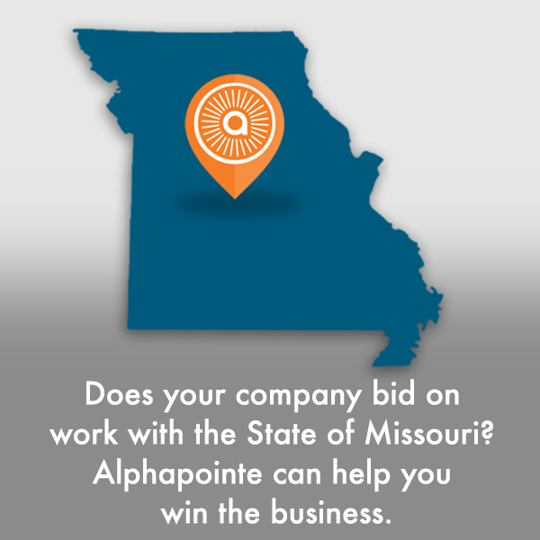 Does your company bid on work with the State of Missouri? Alphapointe can help you win the business.