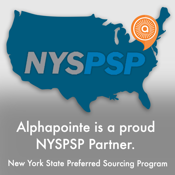 Alphapointe is a proud NYSPSP (New York State Preferred Sourcing Program) partner