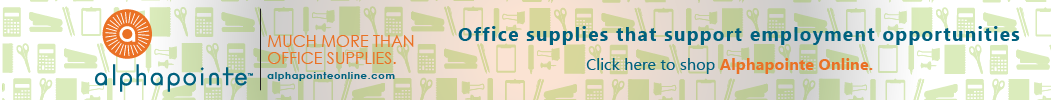 Alphapointe. Much more than office supplies. AlphapointeOnline.com. Office supplies that support employment opportunities. Click here to shop Alphapointe Online.