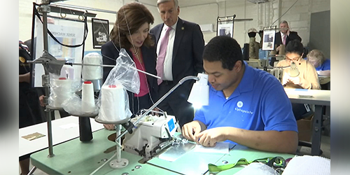 State officials visit employees with disabilities