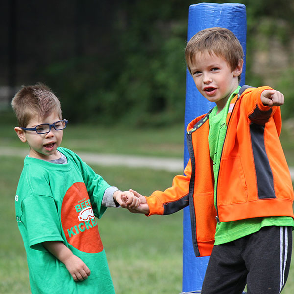 Image of children participating in Alphapointe programs