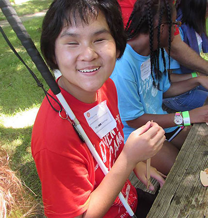 Image of Alphapointe Adventure Camp participant