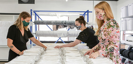 Alphapointe Subsidiary Rightfully Sewn Expands with New Contracts, Hires, Space and Equipment